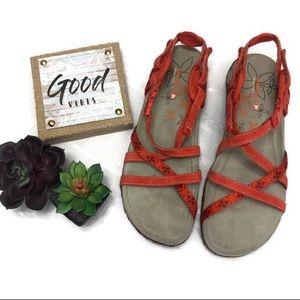 Ladies Merrell orange sandals